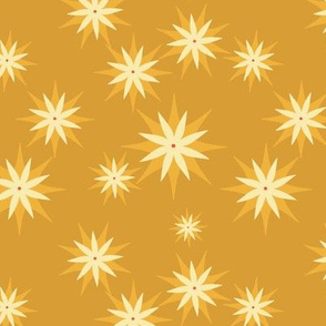 Yellow summer star flower