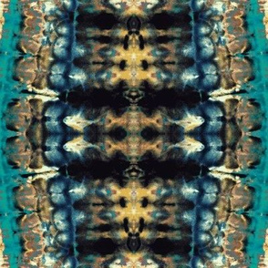 Backbone (turquoise and gold)-Large