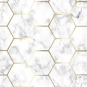 Extra Small MARBLE GOLD HEXAGON