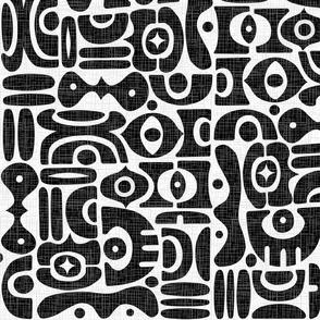 Atomic Rhythms Black  White