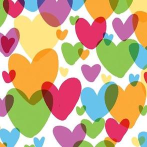rainbow hearts small