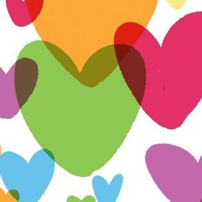 rainbow hearts large