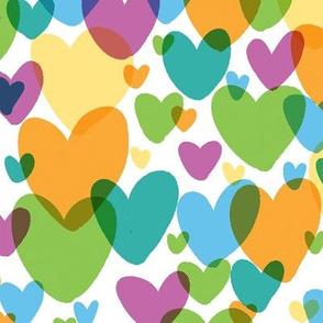 teal rainbow hearts small