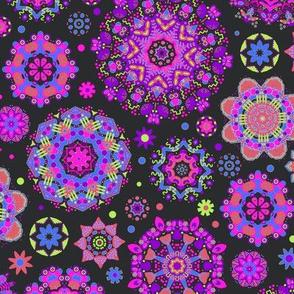 Candy Colored Kaleidoscope//purple