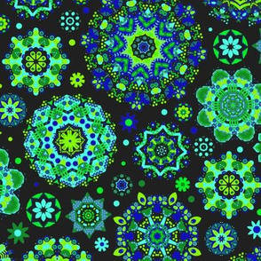 Candy Colored Kaleidoscope//green