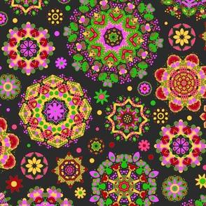 Candy Colored Kaleidoscope//orange