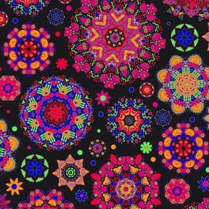 Candy Colored Kaleidoscope//red
