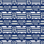 Rice Owls Blue Gray White Team Colors School Stripes Heart