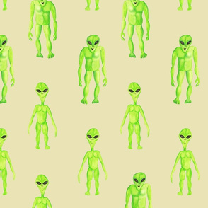 Aliens Area 51 on tan