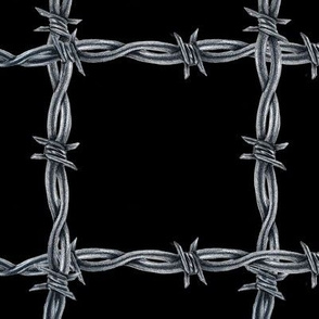 Barbed Wire Plaid Large