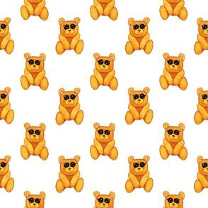 teddy bears on white
