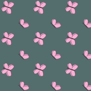 Butterflies on Dark Teal