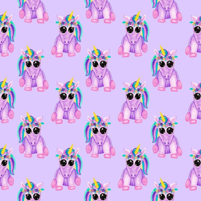 Purple Baby Unicorns on Purple