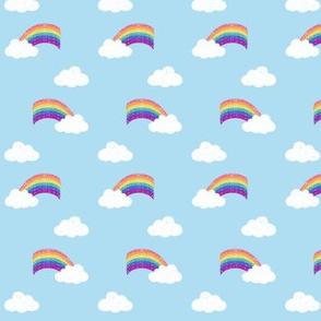 Fluffy Clouds & Rainbows Flip