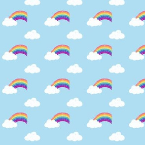 Fluffy Clouds & Rainbows