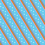 Groove Line* (Light Sky) || rainbow stripes stars 70s 80s disco