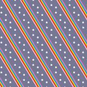 Esprit* (Medium Jackie Blue) || rainbow stripes stars 70s 80s disco