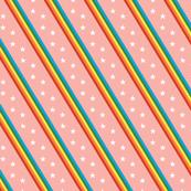 Esprit* (Multicolored on Mona) || rainbow stripes stars 70s 80s disco living coral