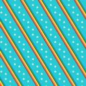 Esprit* (Multicolored on Television Blue) || rainbow stripes stars 70s 80s disco