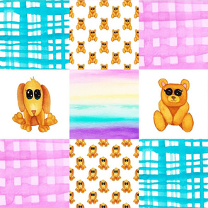 Bear Dog Cheater Quilt