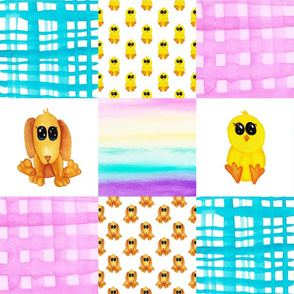 Chick puppy Cheater quilt
