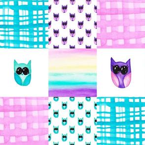 Owls Cheater Quilt