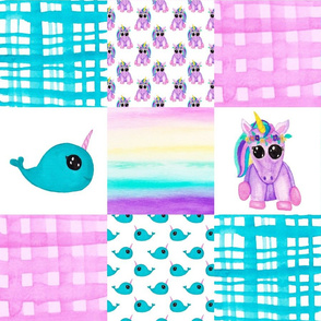 Unicorn Narwhal Cheater Quilt