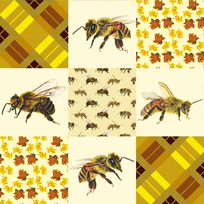 Cheater Quilt Bees soft yellow