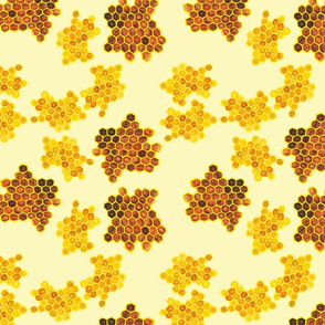 HoneyComb on yellow