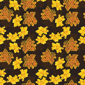 HoneyComb with dark background