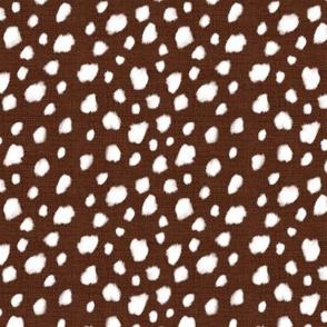 Deer Spot Linen Deep Brown