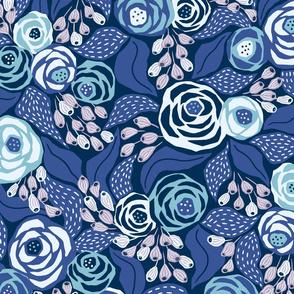 custom papercut roses with purple