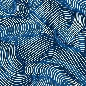 Ocean Waves in Classic Blue
