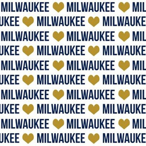 milwaukee fabric - blue and gold - city, wisconsin, state, midwest