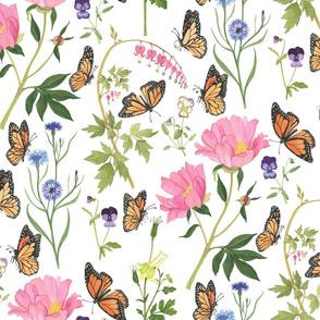 Monarchs in the Spring Garden