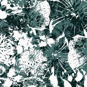 Floral Burnout - Green