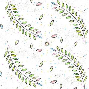 fronds - confetti button