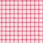 Valentine Plaid { pink - small }
