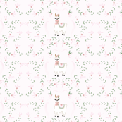 Llama Love You Forever Soft Floral with light pink background