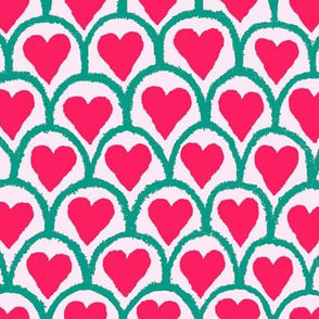 Hearts&ScallopsPink