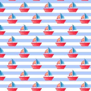 Nautical Sailboat Stripe