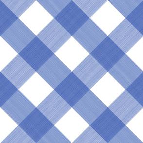 Diagonal Cobalt Blue 4 Inch Buffalo Plaid copy