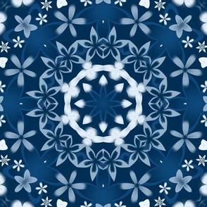 classic blue- kaleidoscope