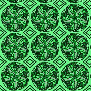 Brillian Green Floral Design