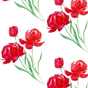 Peonies in Red
