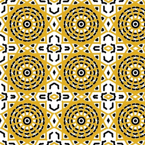 two tone geometry in yellow and black