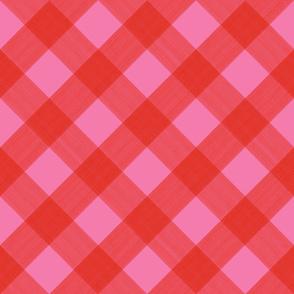 Diagonal Valentine 2 inch Buffalo Plaid