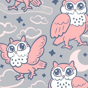 goodnight owls in peachie