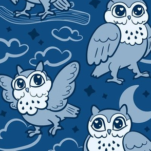 goodnight owls in nighttime
