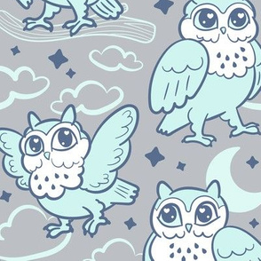 goodnight owls in minty